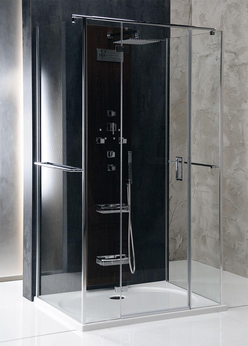 Cabine doccia vitra line cabina doccia rettangolare a 3 for Doccia rettangolare