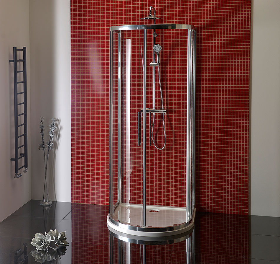 Shower screens LUCIS LINE - Semi circular shower enclosure - POLYSAN