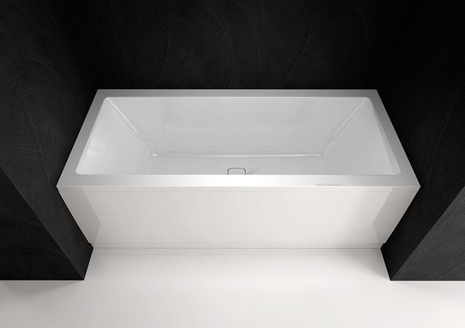 Altezza Vasca Da Bagno Angolare : Vasche rettangolari per una persona lily 150x70 polysan